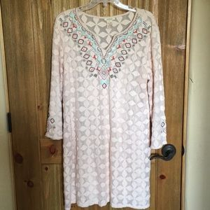 Sundance beaded pink dress. Gorgeous